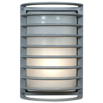 Bermuda Outdoor Ribbed Bulkhead Wall Sconce
