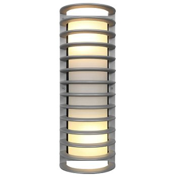 Bermuda Outdoor Ribbed Bulkhead Tall Wall Sconce