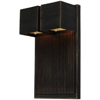 Fontana LED Cube 2 Light Outdoor Wall Sconce