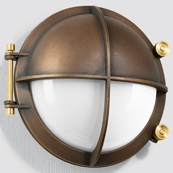 Boom LED Bronze Shielded Wall Light with Tool-less