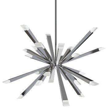 Starburst LED Chandelier (Polished Chrome) - OPEN BOX RETURN