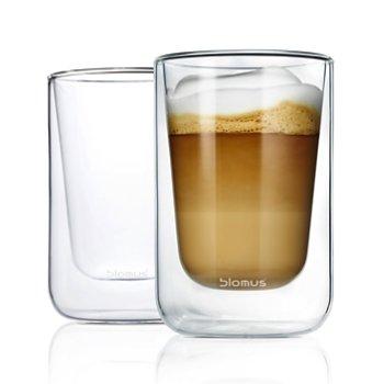 NERO Set of 2 Insulated Cappuccino Glasses