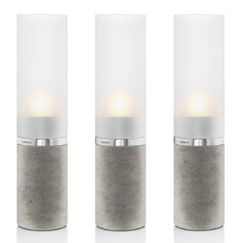 FARO Set of 3 Concrete Tealight Holders