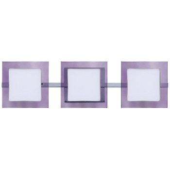 Alex Bath Bar with Trim (Amethyst/Chrome/3 Light) - OPEN BOX