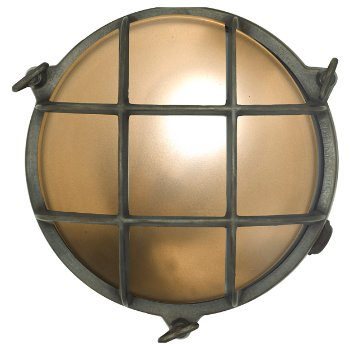 Brass Bulkhead Outdoor Wall Sconce