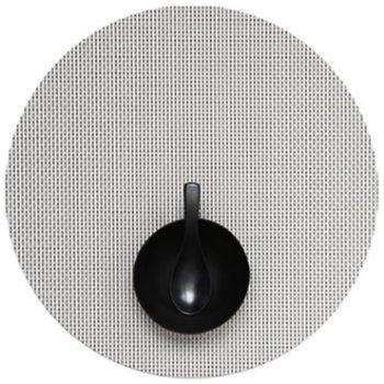 Basketweave Round Tablemat (White) - OPEN BOX RETURN