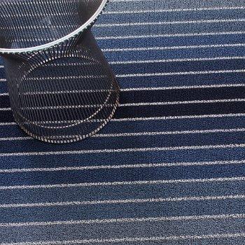 Block Stripe Shag Door Mat