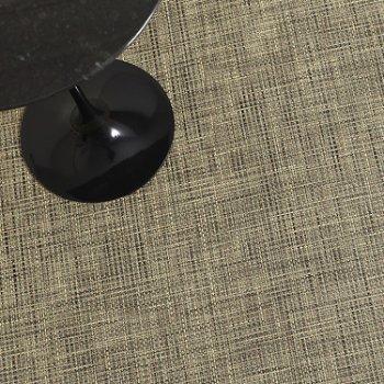 Basketweave Plynyl Floor Mat (Bark/23 x 36) - OPEN BOX