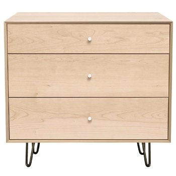 Canvas 3 Drawer Dresser - Metal Legs