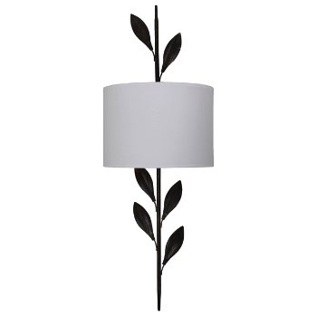 Broche Wall Sconce (White/Bronze) - OPEN BOX RETURN