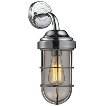 Seaport cylindrical wall sconce by elk lighting at - Cylindrical wall sconce ...