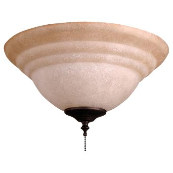 Bowl Light Kit with Tea-Stained Glass