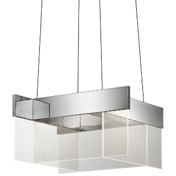 Geo LED Square Pendant
