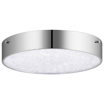 Crystal Moon LED Round Flushmount