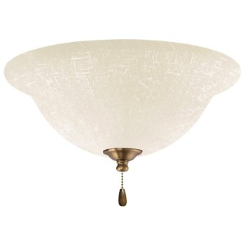 White Linen LED Light Fixture
