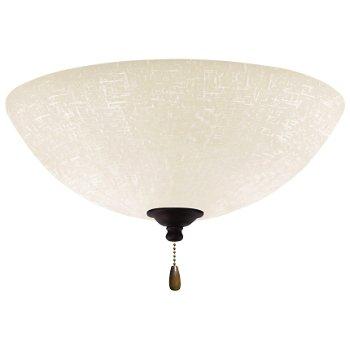 White Linen LED Light Fixture