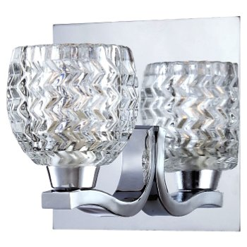 Wave Wall Sconce (Clear/Chrome) - OPEN BOX RETURN