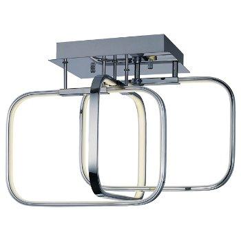 Squared LED Semi-Flushmount