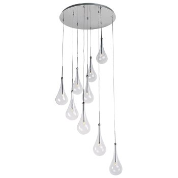 Larmes LED 9 Light Pendant