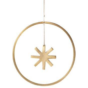 Winterland Brass Star Ornament - Small