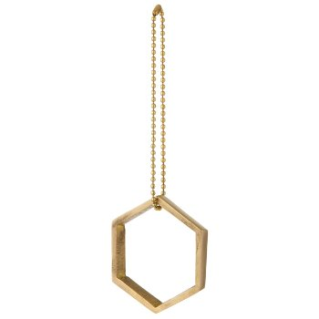 Hexagon Brass Ornament