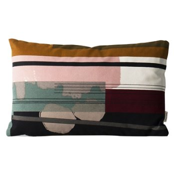 Colour Block Throw Pillow Small 3