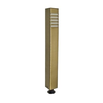 Brass LED Square Bollard Path Light