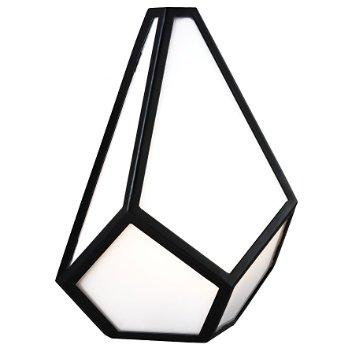 Diamond Wall Sconce (Black) - OPEN BOX RETURN