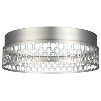 Amani LED Flushmount (Satin Nickel/Link Pattern) - OPEN BOX