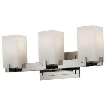 Riva Bath Bar (Nickel/Opal/3 Lights) - OPEN BOX RETURN