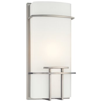 P465 Wall Sconce (Opal/Brushed Nickel) - OPEN BOX RETURN