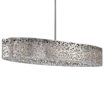 Hidden Gems LED Oval Pendant