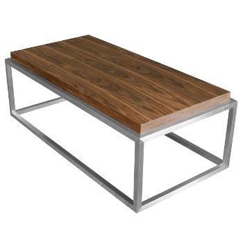 Drake Rectangle Coffee Table (Walnut) - OPEN BOX RETURN