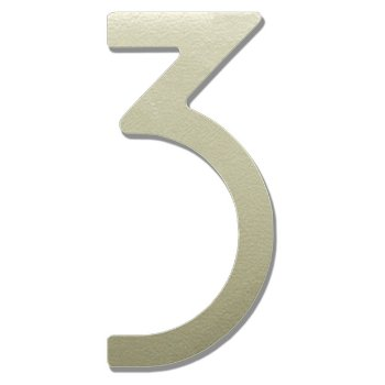 House Numbers (Satin Silver/Three/8 inch) - OPEN BOX RETURN