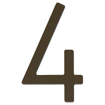 House Numbers (Dark Bronze/Four/8 Inch) - OPEN BOX RETURN