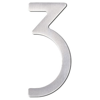 House Numbers (Stainless Steel/Three/5 inch) - OPEN BOX