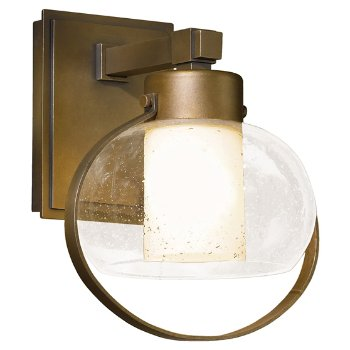 Port Coastal Outdoor Wall Sconce with Seeded Glass