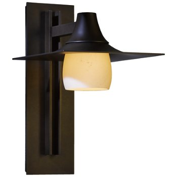 Hood Coastal Outdoor Tall Wall Sconce with Glass