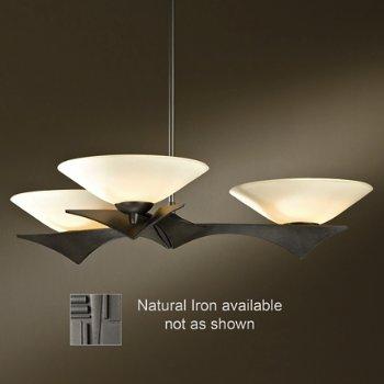 Moreau 3-Light Pendant (Opal/Iron/Standard) - OPEN BOX