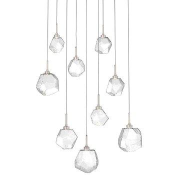 Gem Square LED Multi-Light Pendant