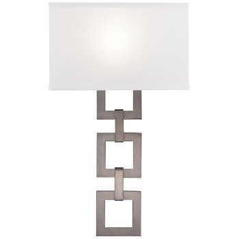 Carlyle Square Link Linen Wall Sconce