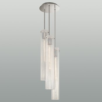 Libro Glass Multi Light Pendant with Cord