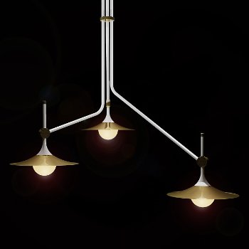 Bullarum SA-3 Chandelier with Discs