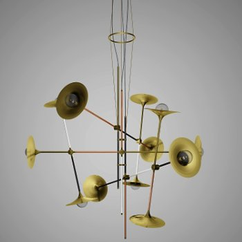 Bullarum ST-12 4 Metal Edition Chandelier with Discs