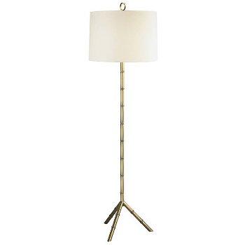 Meurice Floor Lamp (Off White Linen/Brass) - OPEN BOX RETURN