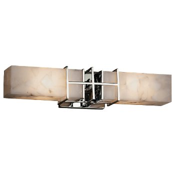 Alabaster Rocks! Structure 2-Light Bath Bar