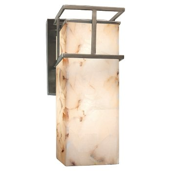 Alabaster Rocks! Structure Outdoor Wall Sconce