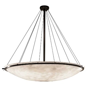 Clouds 72-Inch Round Bowl w/ Ring Pendant