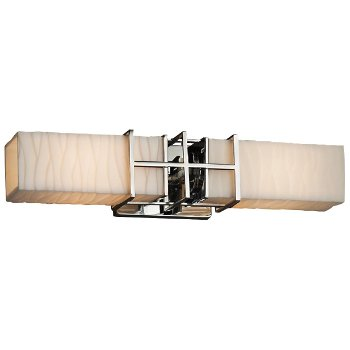 Porcelina Structure 2-Light Bath Bar