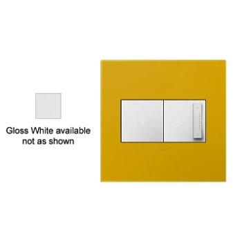 Wall Plate - Plastic (Gloss White/2 Gang) - OPEN BOX RETURN